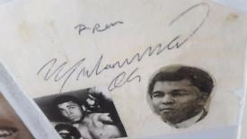 Muhammad ali hand signed autograph