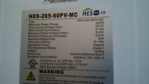 4ea HES 265w solar panels for sale