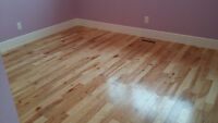 Floor installation: laminate, vinyl, hardwood.  From $1.20/sq.ft