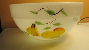 Fire King Anchor Hocking Mixing Bowl with Fruits