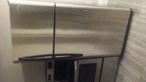 NEW (NEVER USED) Stainless Steel Fridge and Range