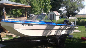 Boat , 50 hp outboard motor and trailer for sale