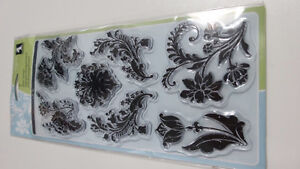 Damask Flowers clear stamps new in package