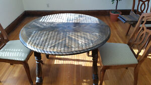 dining room table w/ 4 chairs: $100.