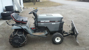 riding lawn mower with extras trade for?
