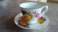 Antique Queen Anne  English Bone China Cup & Saucer