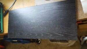 2 pieces of black Counter Top 5/8""