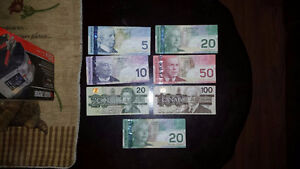 Old Canadian Paper Currency, Bills