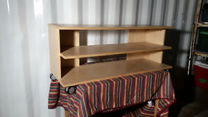 All wood TV Stand