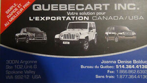 **********  EXPORTATION EN LOT VERS LES USA ************