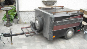 Motorcycle trailer for touring