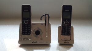 VTech Dual Cordless Phones Handset with Cordless Headset