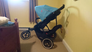 Double Stroller - Phil & Ted's Navigator - Blue