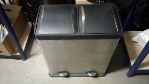 2-compartment Trash and Recycling Bin (2x30l)