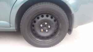 WINTER TIRES ON RIMS . 205/55/16. London Ontario image 1