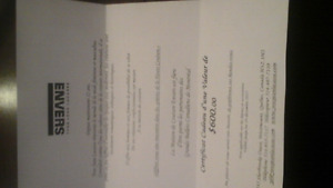 Certificat cadeau- La maison de Couture Envers Yves Jean Lacasse