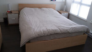 Malm Queen Bed *Perfect Condition *Package Deals Avail!