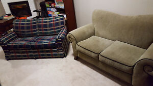 Two love seat couches