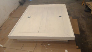 Queen size platform bed, very strong, has storage compartments