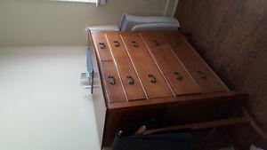 Dresser, wardrobe and bed set