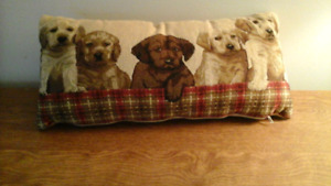 Pillow with puppy picture