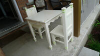 Beautiful Kid table and chairs