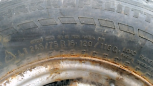 Winter tires with rims LT 245/75 R16