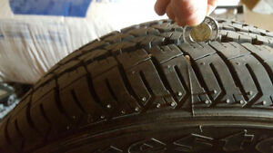 **ONLY 5 MONTHS OLD** FIRESTONE All Season tires: 185/60 R14