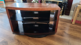 Wooden TV Stand Swivel Base