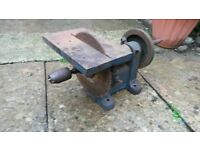Vintage industrial workshop tool bench and saw