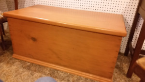 Solid wood antique restored blanket box xmas
