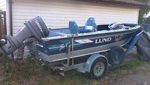 Lund 1660 ProV with Yamaha 90hp outboard $6000