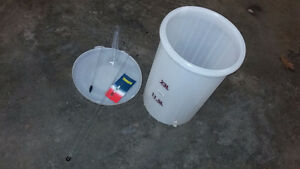 Primary fermenter and other beer making supplies