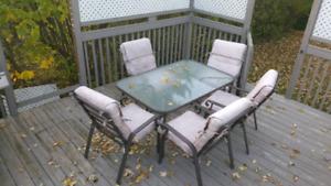 Table de patio 6 chaises