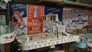 1950s, 60, & 70s Table Top Hockey Games