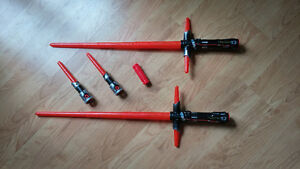2 star wars light sabres + attachments