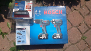 Brand new Bosch Cordless Drill/Driver and impact Driver Kit