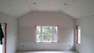 Drywall framing taping priming painting