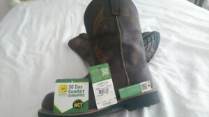Mens Dan Post John Deere Leather Boots NEVER WORN