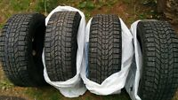 205/55/R16. x4 FIRESTONE WINTER TIRES WITH RIMS
