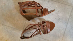 Luca Ferri Wedge Heels (Sandals) - Size 38 (7.5 to 8)