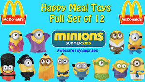 Every McDonald's minion toy ever sold in Canada
