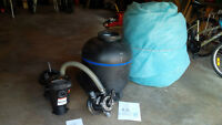 Pool Pump & Sand Filter & Solar Blanket