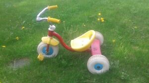 Red and Yellow tricycle