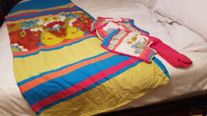 Colourful kids duvet cover and 3 pillowcases