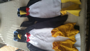 Matching adult/child penguin costumes