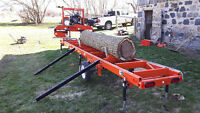 "Portable Saw Mill Service: Custom Sawyer can Saw Logs 55"" Wide"