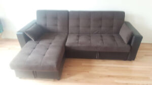 Brown Sectional with Storage $450