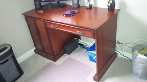 Solid Wood Home Office Desk & Filing