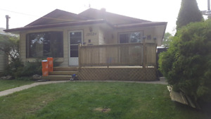 Whole house 4 bdrm 2 bath north east edmonton  available may 1st